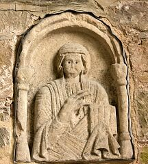 Figure in Lady Chapel, Breedon on the Hill church  © Leicestershire County Council