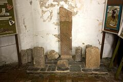 Saxon crosses, Breedon on the Hill church  © Leicestershire County Council