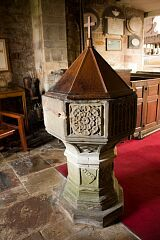 Medieval font, Breedon on the Hill church  © Leicestershire County Council