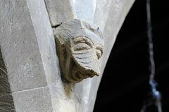 Demon-style face, nave, Frisby on the Wreake church  © Leicestershire County Council