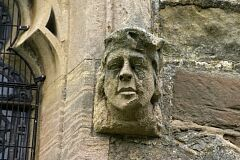 Human face, All Saints Church, Long Whatton  © Leicestershire County Council