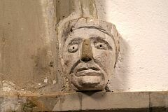 Male head, Shepshed church  © Leicestershire County Council