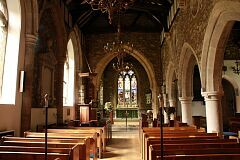 Internal view, Swithland church  © Leicestershire County Council