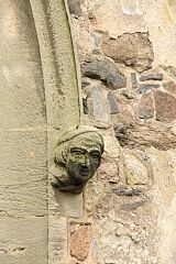 Human head, Swithland church  © Leicestershire County Council