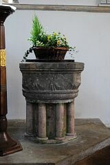 Font, St Peter's Church, Tilton on the Hill  © Leicestershire County Council