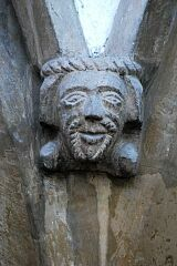 Springer in form of man's head, St Peter's Church, Tilton on the Hill  © Leicestershire County Council