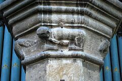 Carved monkey, St Peter's Church, Tilton on the Hill  © Leicestershire County Council