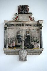 Memorial tablet (1638), St Peter's Church, Tilton on the Hill  © Leicestershire County Council