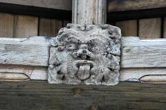 Wooden roof boss in chancel, St Peter's Church, Tilton on the Hill  © Leicestershire County Council