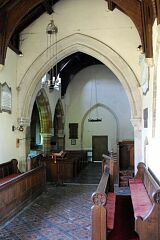 Chancel arch, St Peter's Church, Allexton  © Leicestershire County Council