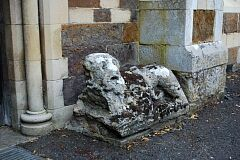 Stone lion, St Peter's Church, Allexton  © Leicestershire County Council