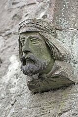 Male carved head, St Bartholomew's Church, Foston  © Leicestershire County Council