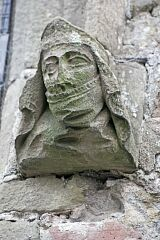 Female carved head, St Bartholomew's Church, Foston  © Leicestershire County Council