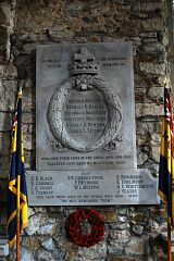 War memorial, St Mary's Church, Barkby  © Leicestershire County Council