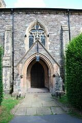 Church porch, St Mary's Church, Barkby  © Leicestershire County Council