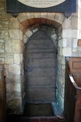 C18 door, St Mary's Church, Barkby  © Leicestershire County Council
