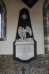 C18 monument, St Mary's Church, Barkby  © Leicestershire County Council