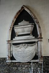 Memorial to Mary Pochin, St Mary's Church, Barkby  © Leicestershire County Council