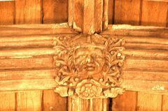 Wooden roof boss, All Saints Church, Peatling Magna  © Leicestershire County Council