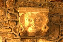 Carved corbel, St Leonard's Church, Thorpe Langton  © Leicestershire County Council