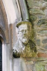 Hugh Latimer carved label stop, All Saints Church, Thurcaston  © Leicestershire County Council