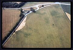 Linear feature and enclosure, Hall Fields  © Leicestershire County Council