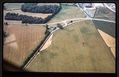 Enclosure and linear feature, Hall Fields  © Leicestershire County Council