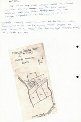 """Tracing of 6"""" map of Peckleton moat  © Leicestershire County Council"""