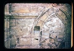 Cross-shaft in wall of C12th priory church (1959)  © Leicestershire County Council