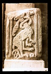 Carving from C12th priory church (1959)  © Leicestershire County Council