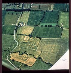 Hamilton deserted medieval village from the air  © Leicestershire County Council