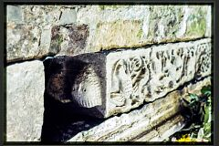 Bird frieze and head, south aisle, St Mary and St Hardulph church, Breedon on the Hill.  © Leicestershire County Council